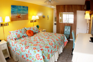 Rm #10 New Pillow-top KING Bed and Colorful, New Furnishings. 1st Floor. Street View. Photo 2
