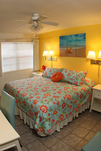 Rm #10 New Pillow-top KING Bed and Colorful, New Furnishings. 1st Floor. Street View. Photo 1